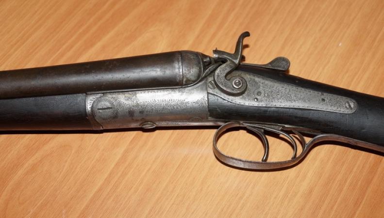 Старинное ружье британской работы