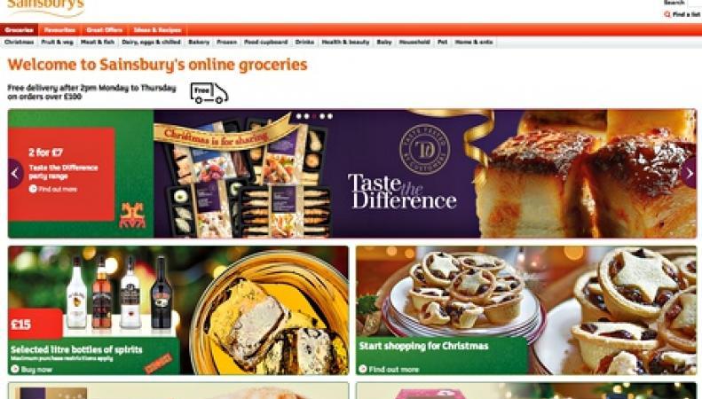 Сайт Sainsbury's