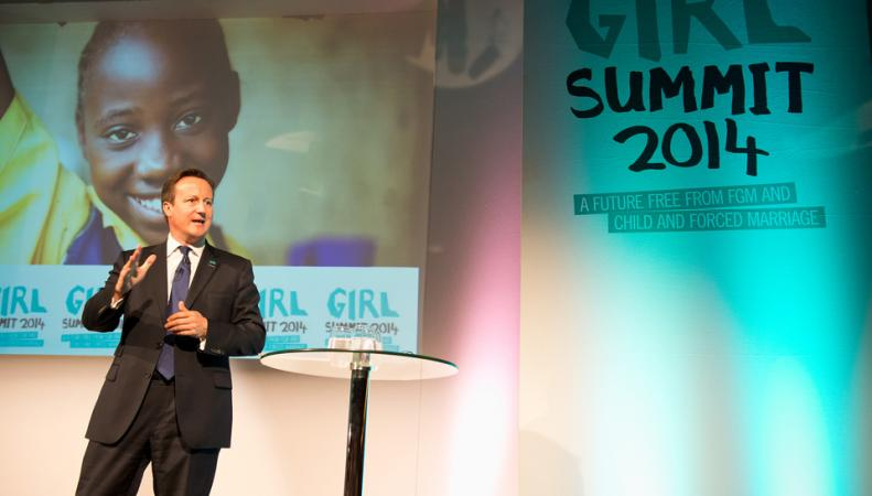 Премьер-министр Великобритании Дэвид Кэмерон на Girl Summit