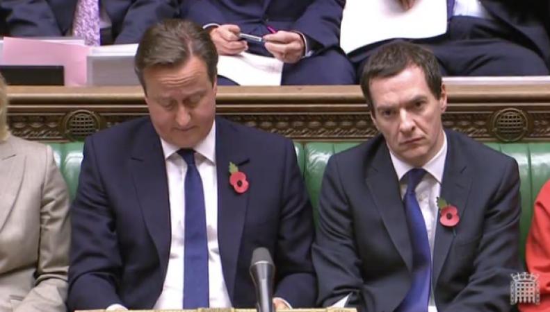 Дэвид Кэмерон в парламенте