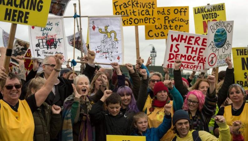 протест против фрекинга