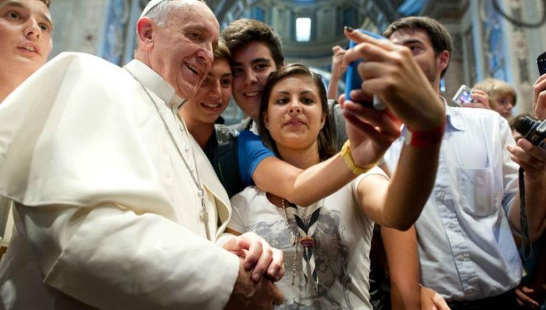 Селфи Папы Римского