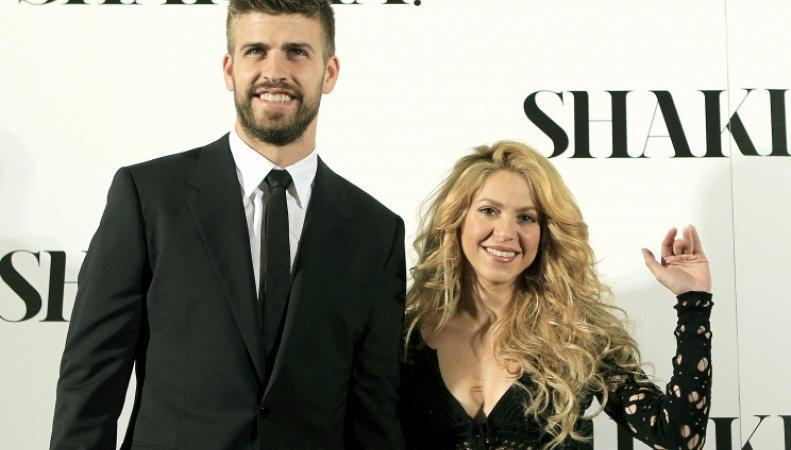 Певица Шакира и защитник сборной Испании по футболу Жерар Пике