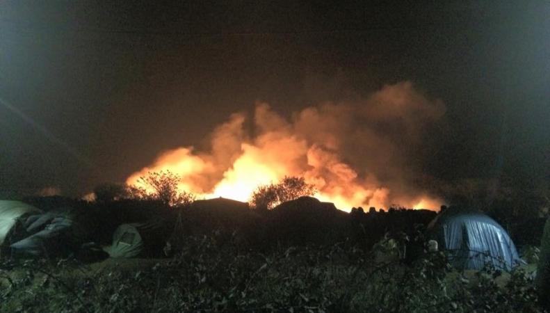 пожар в Кале