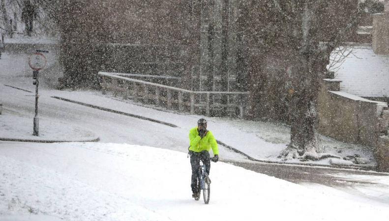 Снегопад в Англии