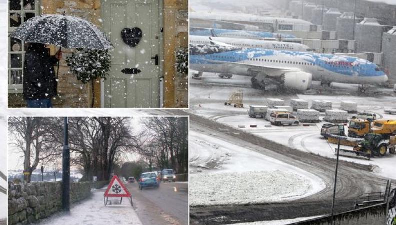 Снегопады в Великобритании