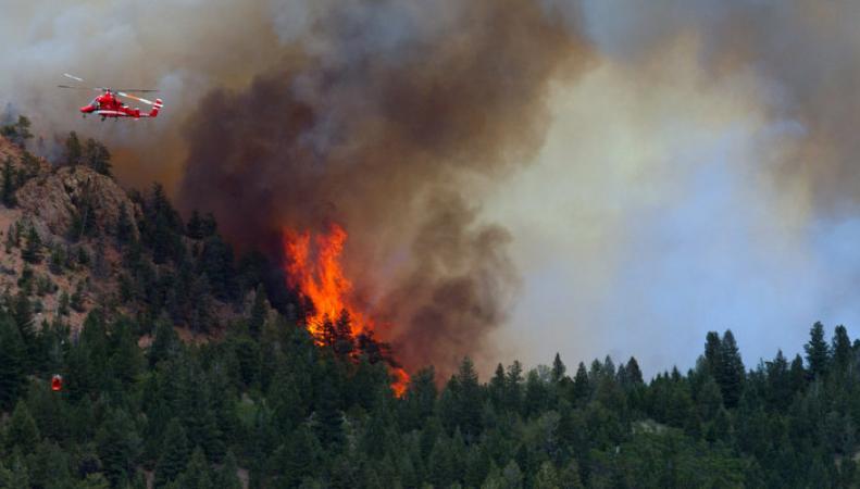 пожары в Вашингтоне