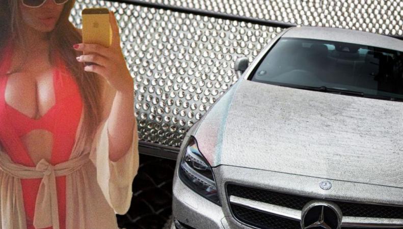Дарья Родионова и Mercedes со стразами Swarovski