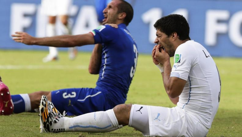 Нападающий сборной Уругвая по футболу Луис Суарес