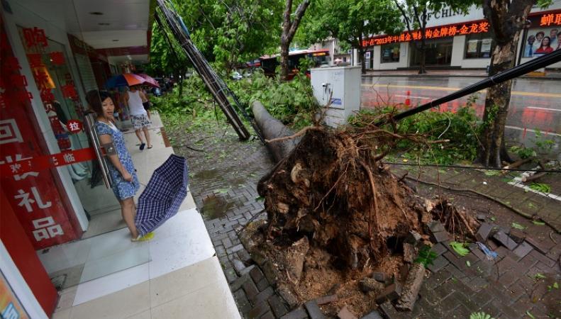 Последствия урагана в Китае
