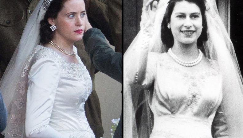 Клэр Фой в образе молодой Елизаветы II