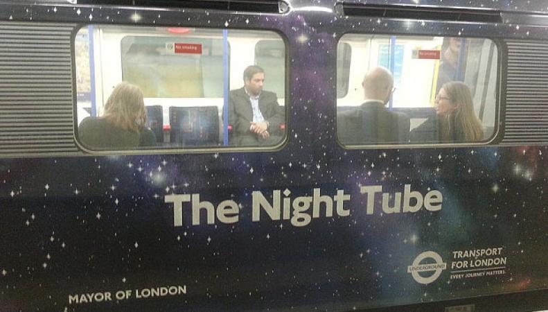 ночное метро в Лондоне