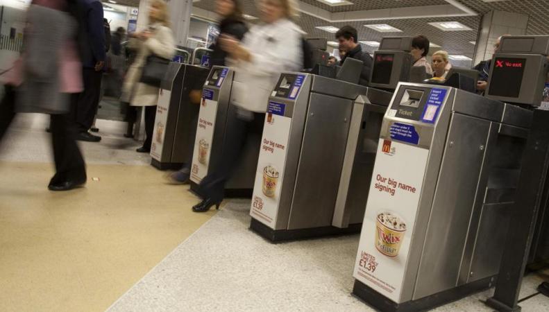 турникеты в лондонском метро