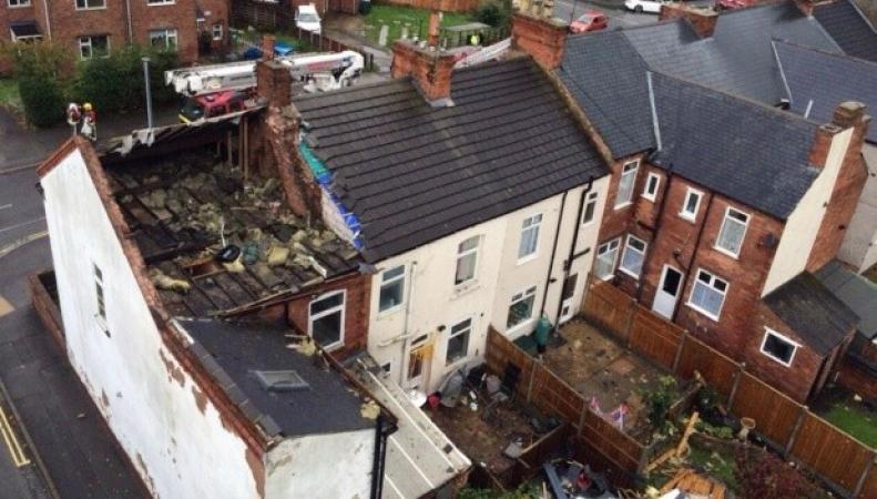 последствия торнадо в Дербишире