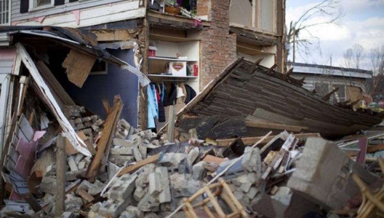 Последствия торнадо в Техасе
