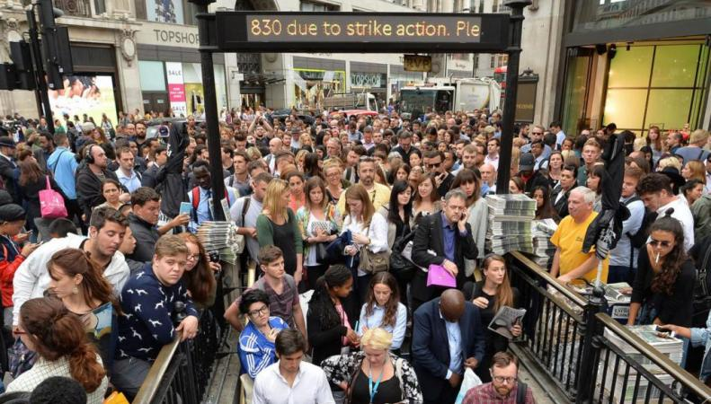 забастовка метро