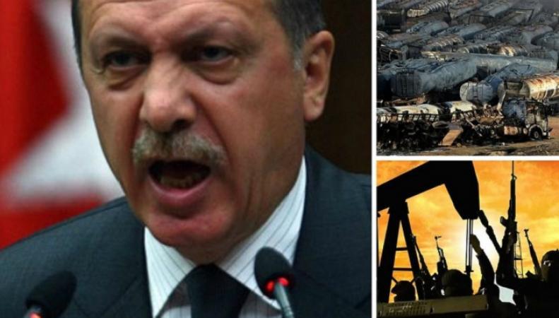 Эрдоган обвинил Россию в торговле нефтью с Россией