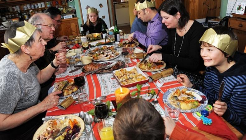 Традиционный рождественский ужин в Великобритании