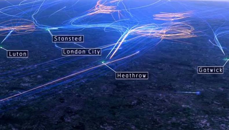 интенсивность авиаперевозок в Великобритании