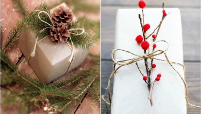 Украшение рождественских подарков