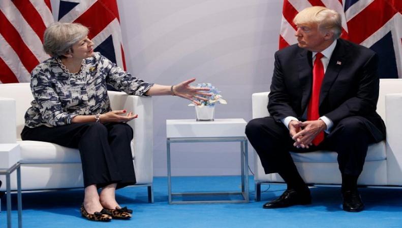 Президент США потребовал  обеспечить ему теплый прием в Лондоне