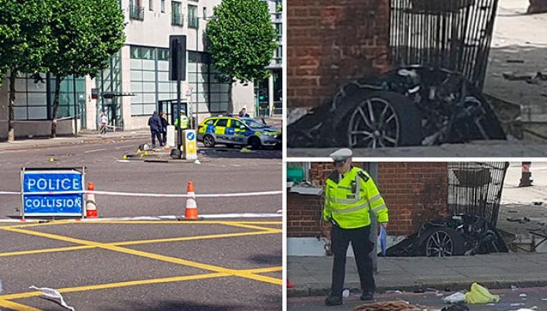 Крупная авария в Лондоне