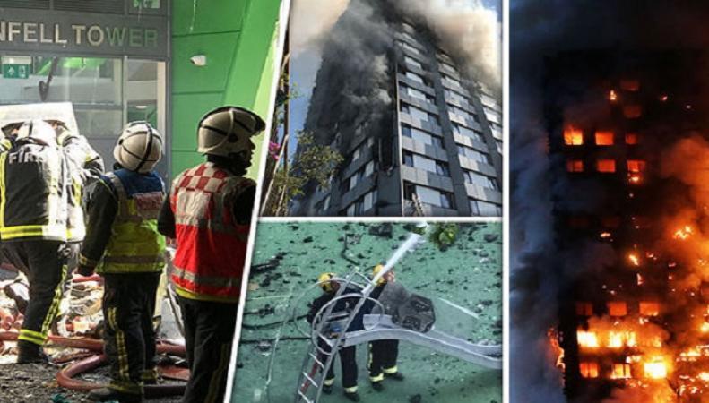 пожар в Grenfell Tower.