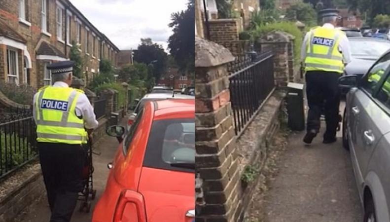 Сотрудники полиции вышли на улицы с детскими колясками