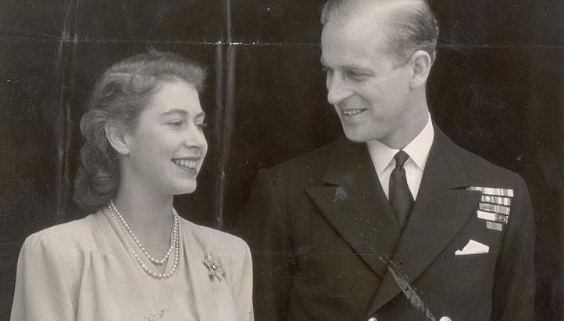 Елизавета и Филипп в 1947-м году
