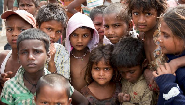 Нищие дети из Непала