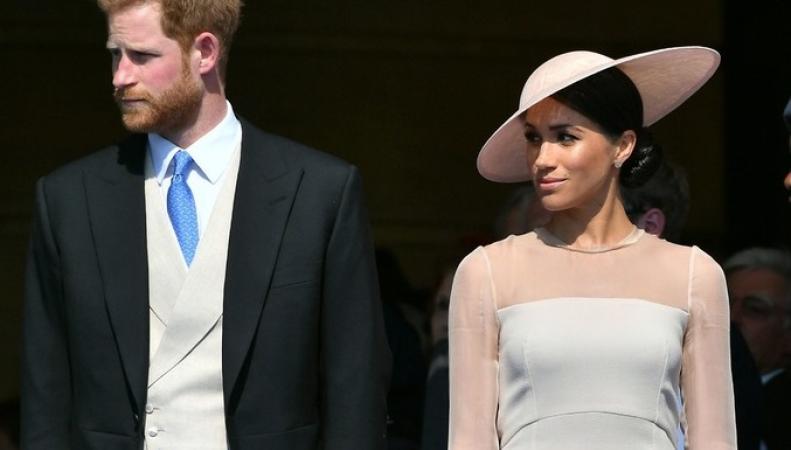 Гарри и Меган посетили прием в саду Букингемского дворца