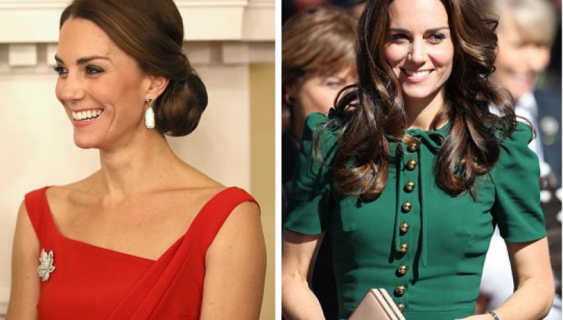 Алое или зеленое? – два ярких образа герцогини Кейт