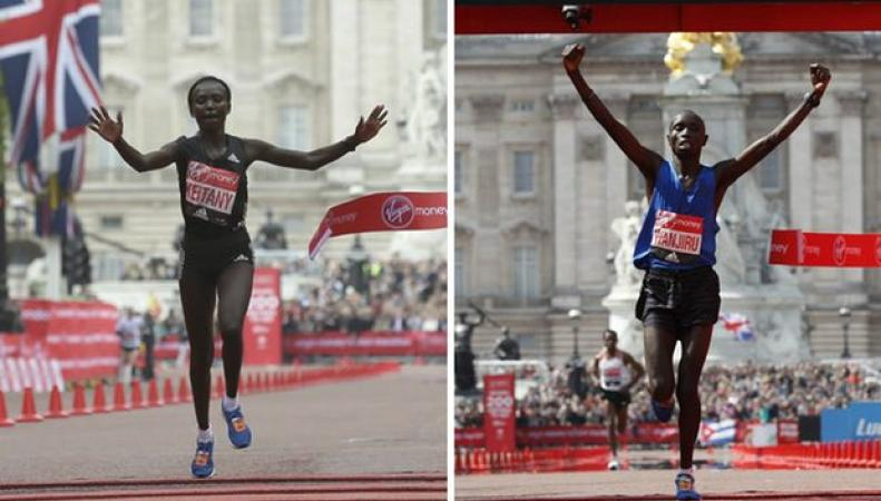 Лондонский марафон: Рекорды, герои, лица фото:theguardian