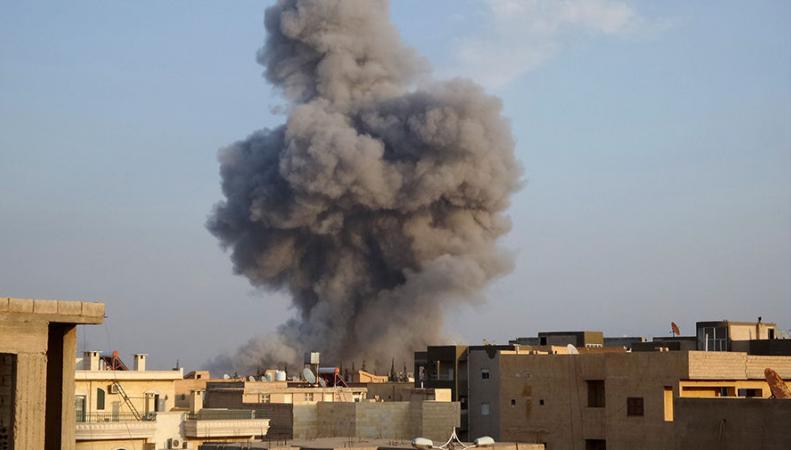 Коалиция США нанесла удар бомбами с фосфором по больнице в Ракке