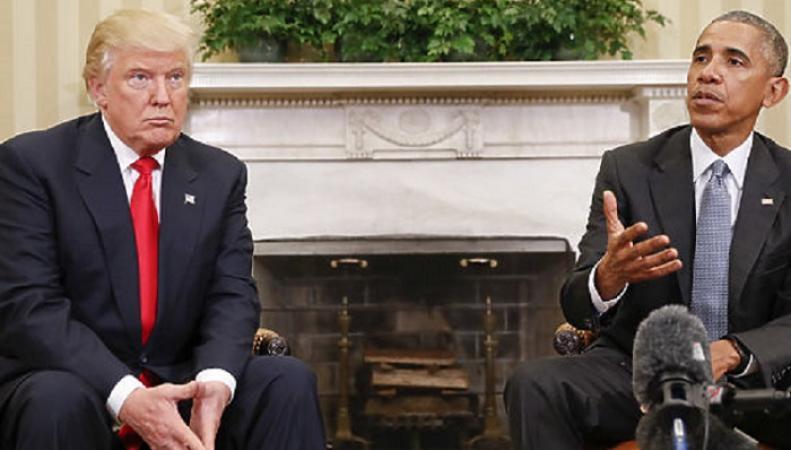 Обама отказался от совместной фотографии с Трампом