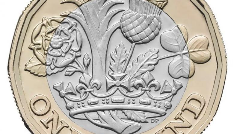 В октябре-2017 круглые однофунтовые монеты выйдут из обращения в Великобритании