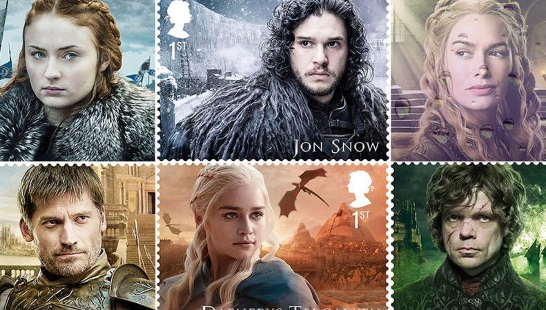 Почта Великобритании выпустила марки вчесть «Игры престолов»