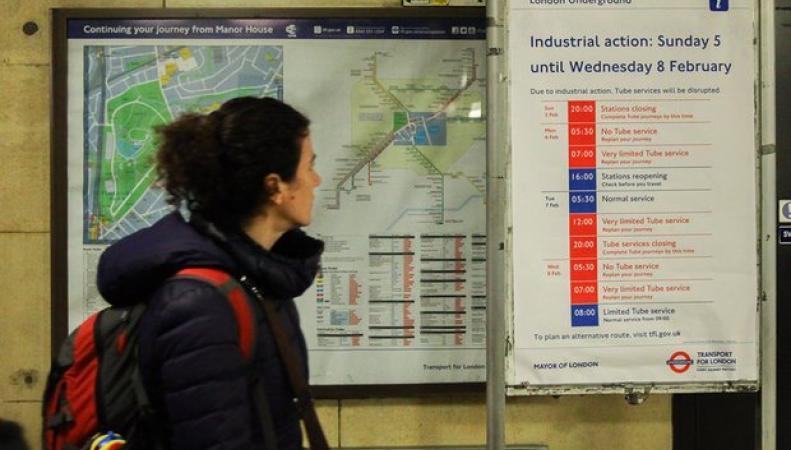 Акции протеста работников лондонского метрополитена отозваны фото:theguardian.com