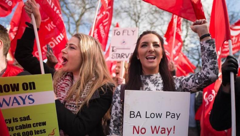 Летные  экипажи British Airways заявили о продолжении забастовочного движения фото:theguardian.com
