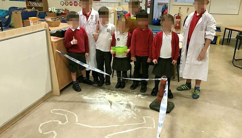 В британской школе провели урок, моделирующий расследование убийства