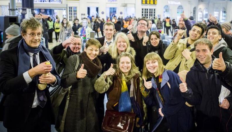 Пассажиры поезда Southern достойно ответили на непрекращающиеся забастовки профсоюза фото:theguardian.com