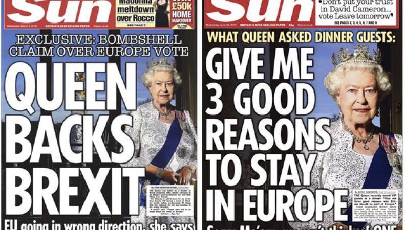 Британский таблоид приписал королеве симпатии к Brexit фото:theguardian.com