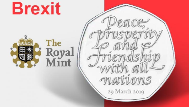 Казначейство уничтожило тираж монет в честь Брекзита