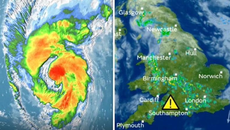На юго-запад Великобритании надвигается шторм из США