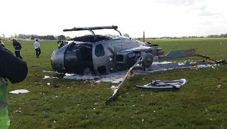 Крушение вертолета на юго-востоке Англии