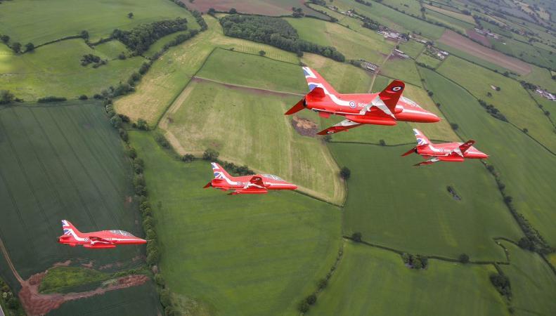 В Шропшире состоялось авиашоу в честь столетия королевских ВВС