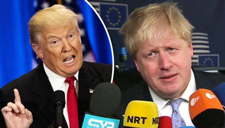 Борис Джонсон оценил талант Дональда Трампа устаивать скандалы в социальных сетях фото:express.co.uk