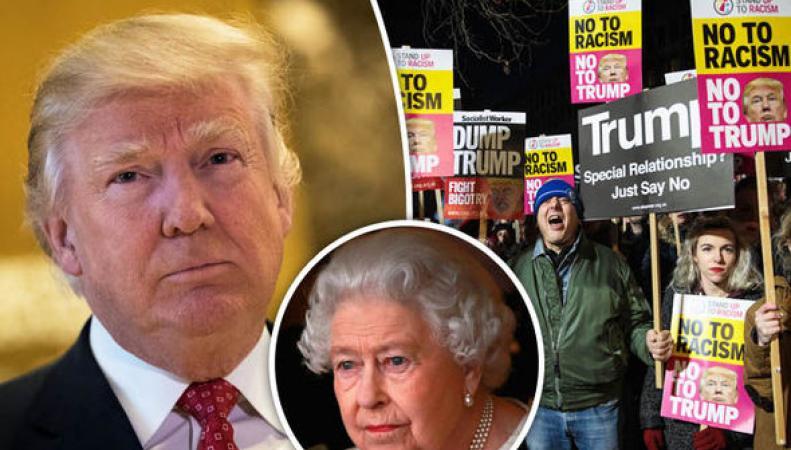 Руководство Англии отказалось отпетиции оботмене визита президента США Д. Трампа