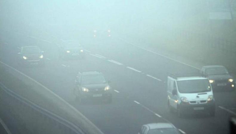 Юг Великобритании утонул в густом тумане