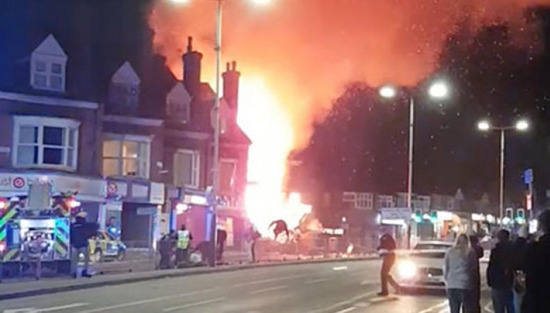 В британском городе Лестер произошел мощный взрыв